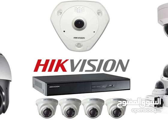 كاميرات مراقبة نوعية hikvision نظام 4 كاميرات 5 ميغا فقط 200 دينار شامل التركيب