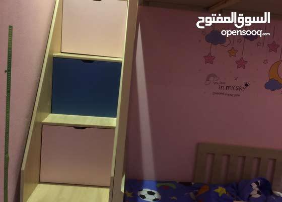 سرير اطفال دورين مع ادراج للسلم