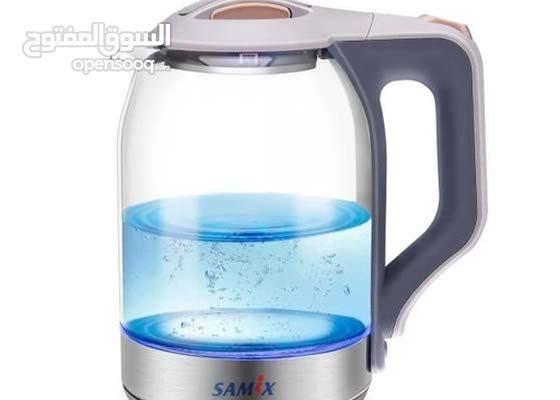 هيتر ماء زجاج مع اضاءة يوجد خدمة توصيل