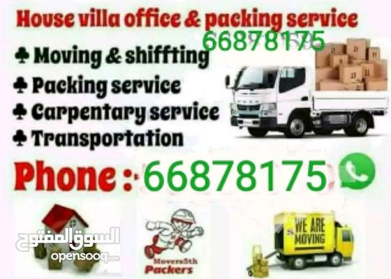 we do house offer villa and moving and shifting transport carpenter pickup servi