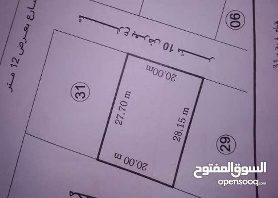 قطعة أرض للبيع، مساحه 558م، خلف الحضيره الجمركيه