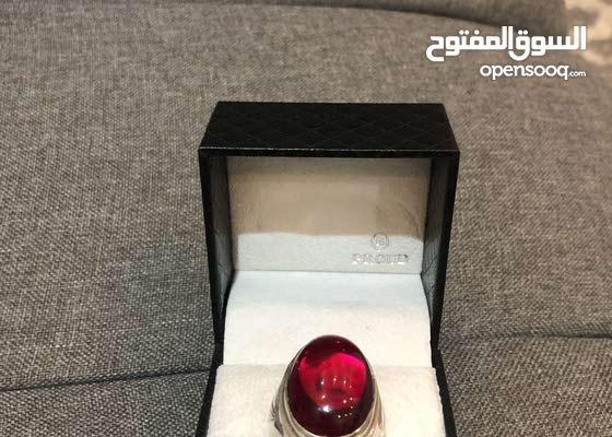 خاتم ياقوت إيراني فضة مليانة300ريال