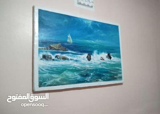 لوحة فنية للبحر
