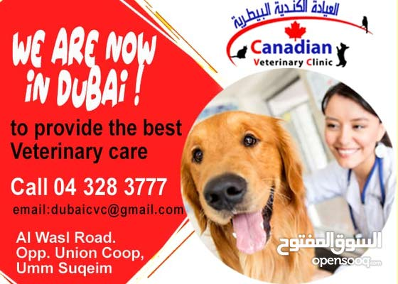 افتتاح فرع العيادة الكندية البيطرية  في دبي