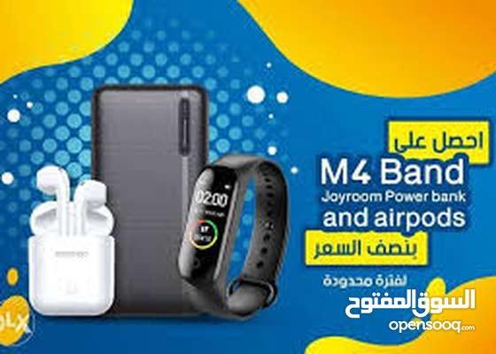 Airpods i99 + Smart Watch M4 band + Power Bank 5000 mAh 3TECH لليع 2020