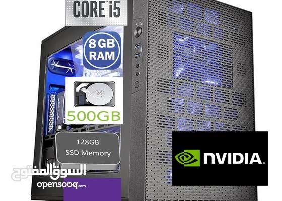 كمبيوتر العاب جيجا بيت 3 جي بي كارت الشاشه  8 جي بي رامات  256جي SSD .