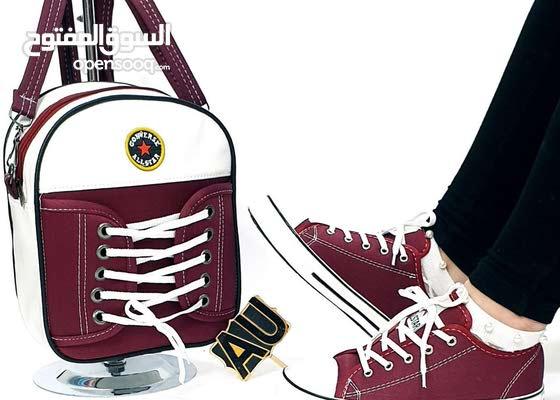 مع شركة الروان كلما هو جديد لدينا فقط وحصرا سيت رياضي كونفرس حذاء وجنطه  يجنننن