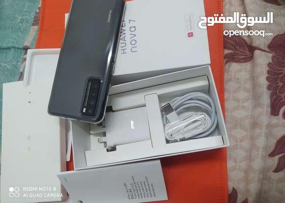 (Huawei Nova 7 5G,256 memory, 8GB ram, price 135bd)