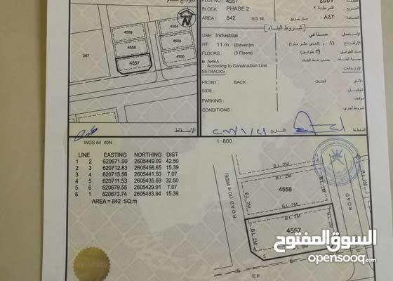 ارض صناعيه برسيل للايجار مسوره وبها غرفه بعد امنتيت عمان مقابل شركة الغاز الوطني
