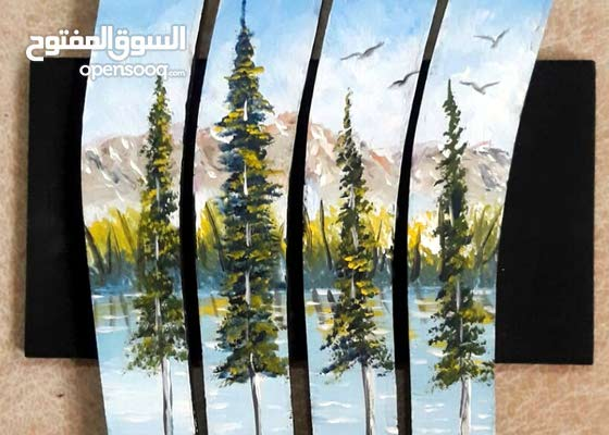 لوحات فنية بافكار جديدة على خشب