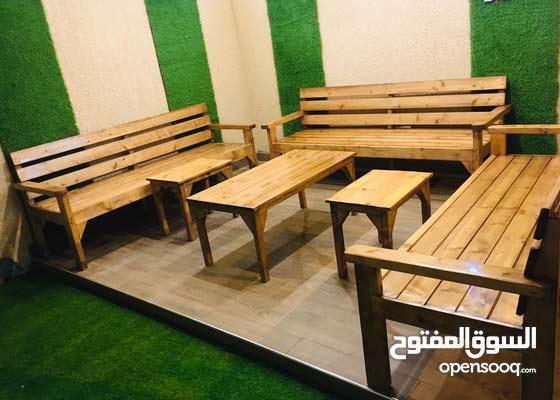 كراسي حدائق + اطقم + طاولات