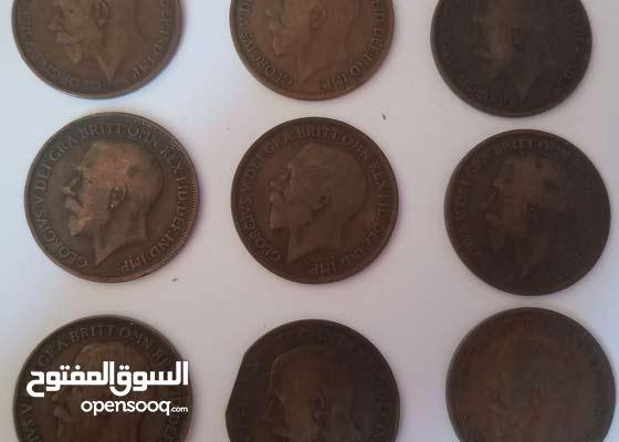 مجموعة عملات التاج البريطاني للملك جورج الخامس 1912 - 1920