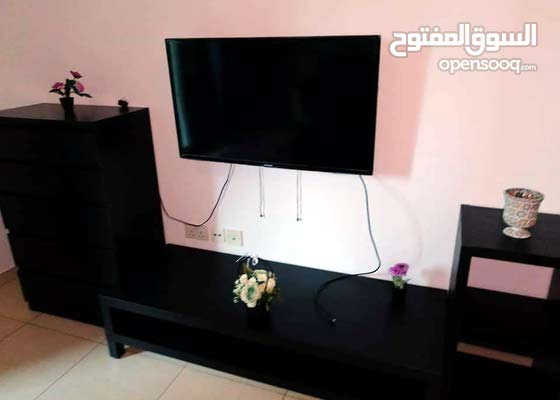 دبي النهدة 1 غرفة وصالة مفروشة سوبرلوكس مع بلكونة - ايجار شهري شامل
