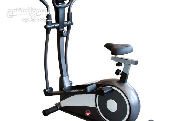 Heavy exercise bike with seat