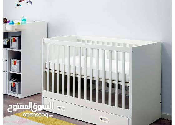 cot with drawer, white 60x120 cm