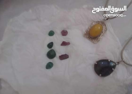 احجار كريمه زمرد و حجر طاؤوس و عقيق اصفر شمس و صفحيه روبي