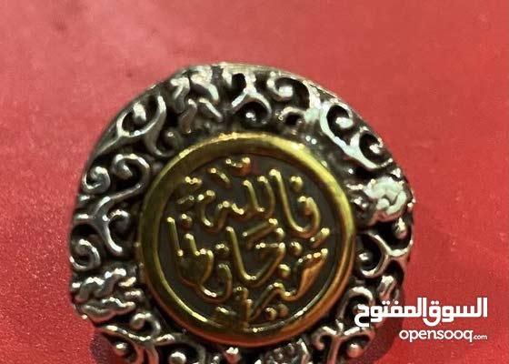 خاتم فضه يدوي الصنع (الله خير حافظ) hand made silver ring