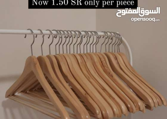 IKEA BUMERANG hangers in wooden color and white color by piece to sell