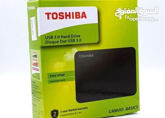 للبيع جهاز هاردسك خارجي بسعة 1 تيرا من شركة توشيبا