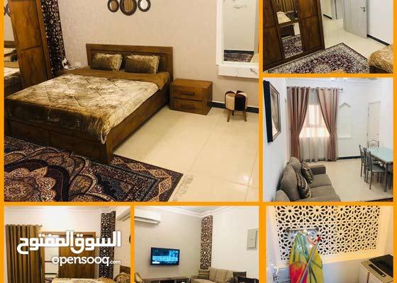 2BHK   Elegant flat fully furniture شقة مؤثثة أنيقةوراقية مع WiFi بناية باسكن روبنز الأنصب