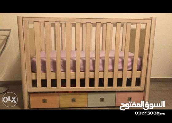 colored bed ,drawer, mattress FAP . unisex bedroom