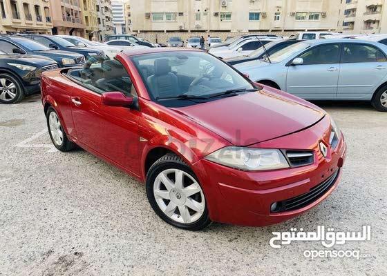 للبيع سيارة رينو ميجان 2010 كوبيه احمر عداد 115 الف بدون حوادث مفحوصة عترخيص