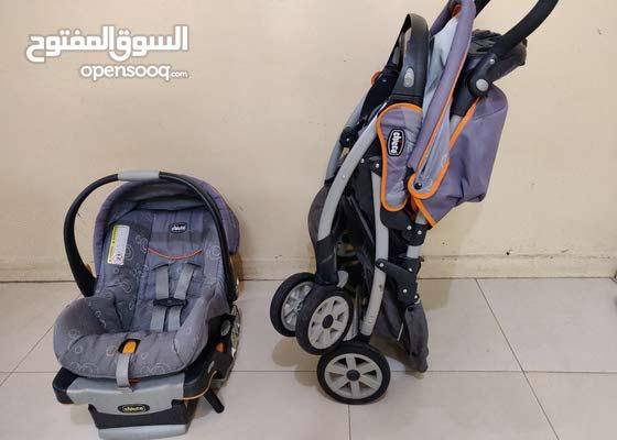 عربة أطفال و كرسي سيارة للبيع