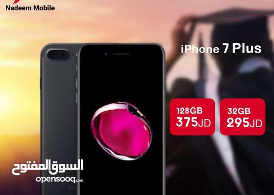 عرض نار على iphone 7+ 32/128 giga جديد بسعر مغري جداً