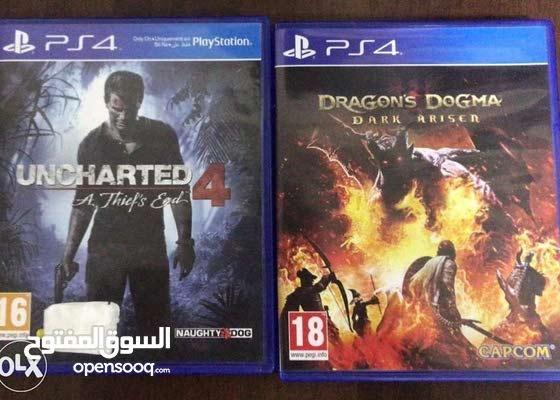 Uncharted 4 & Dragon Dugma in English and Arabic language