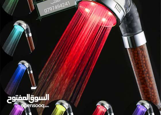 دش التورمالين المضي لايحتاج الى بطاريه او كهرباء يعمل على زياده ضغط الماء دوش