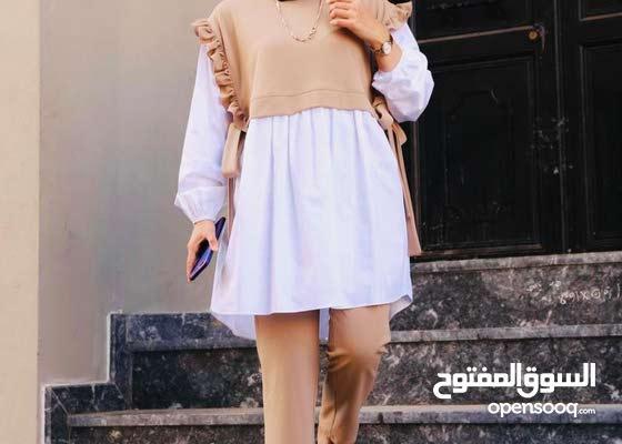 طقم نسواني قماش كريب سكوبا تركي  كتير مرتب  قياس M.L.XL XXL بلبس من وزن 50 ل 90   السعر 110.000