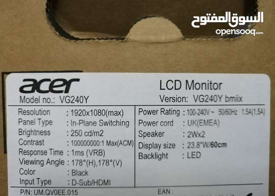 Acer Gaming Monitor VG240y