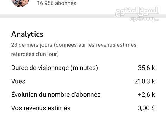 حساب يوتيوب للبيع... 17 ألف متابع  شاهد