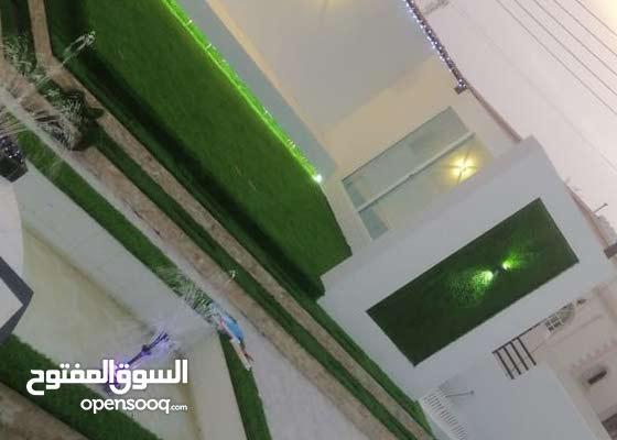 استراحة بيتك معنا بالعشب الأخضر الجميل اتصل