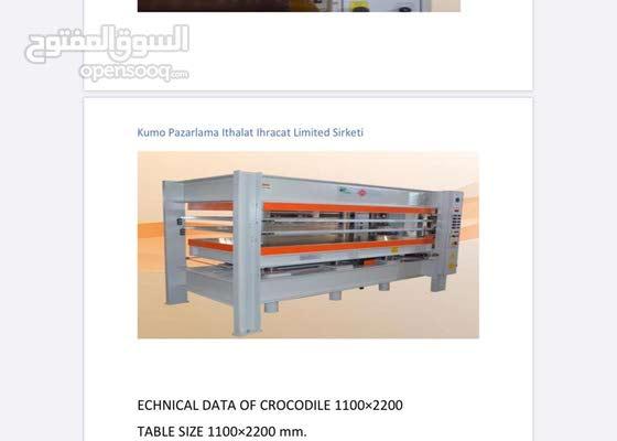 للبيع مكاين تصنيع الابواب الداخلية Pvc وابواب السندويش بانيل