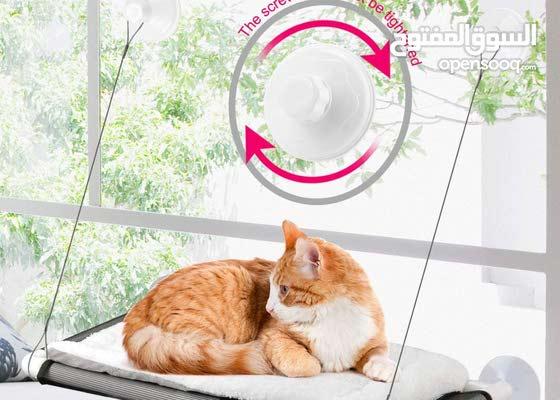 جديد دلل قطتك بإطلاله رائعه مقعد نافذة جوده عاليه للقطط Great view to your lovely Cat - High Quality