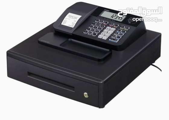 ماكينة إلكترونية لتسجيل المدفوعات النقدية من كاسيو لون اسود SE–G1 مع قارئ البارك