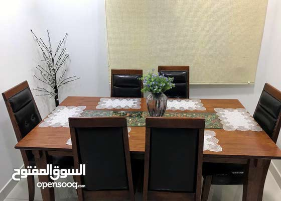 Dinning Table with 6 Chairs and Tea Table and 2 Corner table