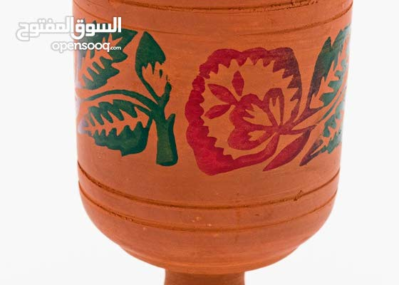 Traditional clay pottery juice cup