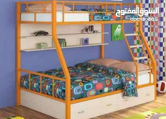 سرير معدن حديد محمل سمك الحديد 3ملى الدهان  فرن الاكتروستاتك ضد الصدأ
