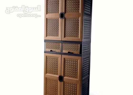 خزانة كلاسيك كبيرة جارورين / من المصنع مباشر / خزانة البسه / خزانه بلاستيك / سام