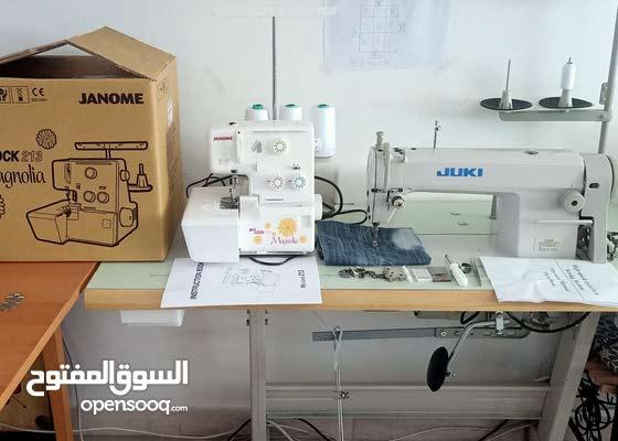 juki sewing machine and overlock machine