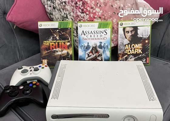 white Xbox 360 250GB in good condition