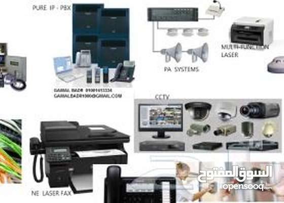 تركيب وبرمجة كاميرات مراقبة وشبكات الانترنت
