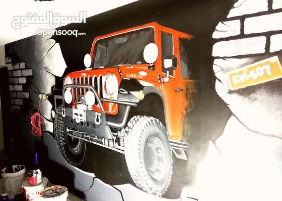 فنان متميز رسم ونحت جداريات نحت ع الفلين خط عربي ديكور مسرح