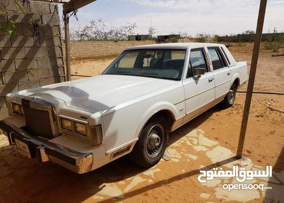 For sale 1987 White Town Car