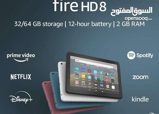تابلت امازون أليكسا 8 بوصة 32 جيجا Amazon Tablet Fire HD 8 Inch With Alexa 32 GB 689 SR