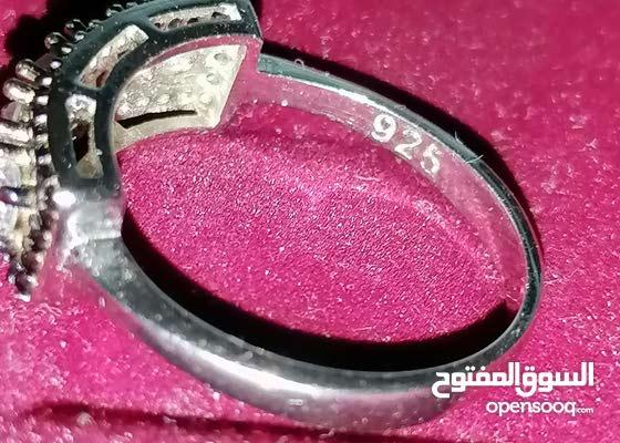 خاتم الماس وفضه عيار 925