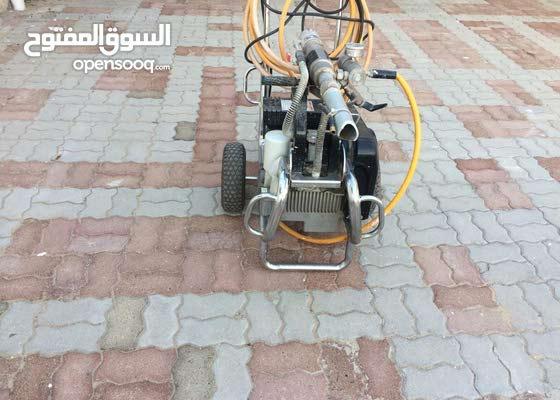 Stucco paste spraying machine airless , مكينة رش ستوكو وايبوكسي والدهانات