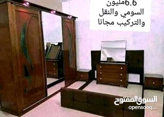 غرف نوم باسعار مغرية ونوعية جيدة خشب احمر توصيل وتركيب وسومي باااااطل